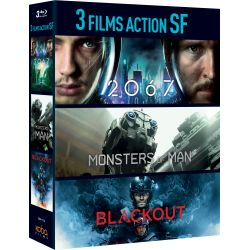 3 FILMS D'ANTICIPATION : BLACKOUT/ 2067 / MONSTERS OF MAN - BRD
