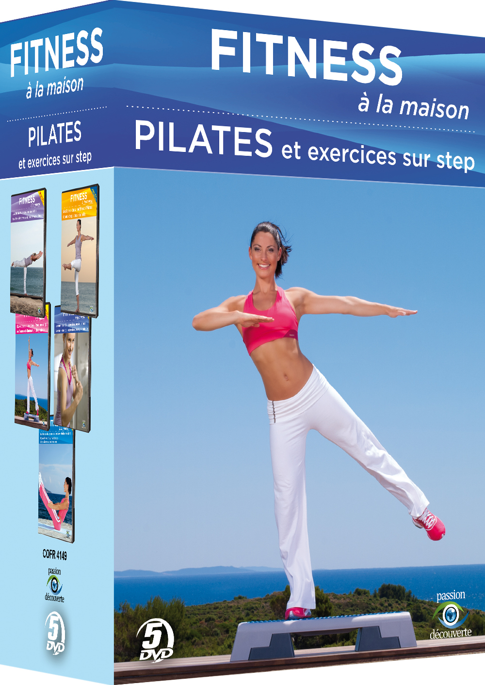 fitness la maison 2 pilates et exercices sur step. Black Bedroom Furniture Sets. Home Design Ideas