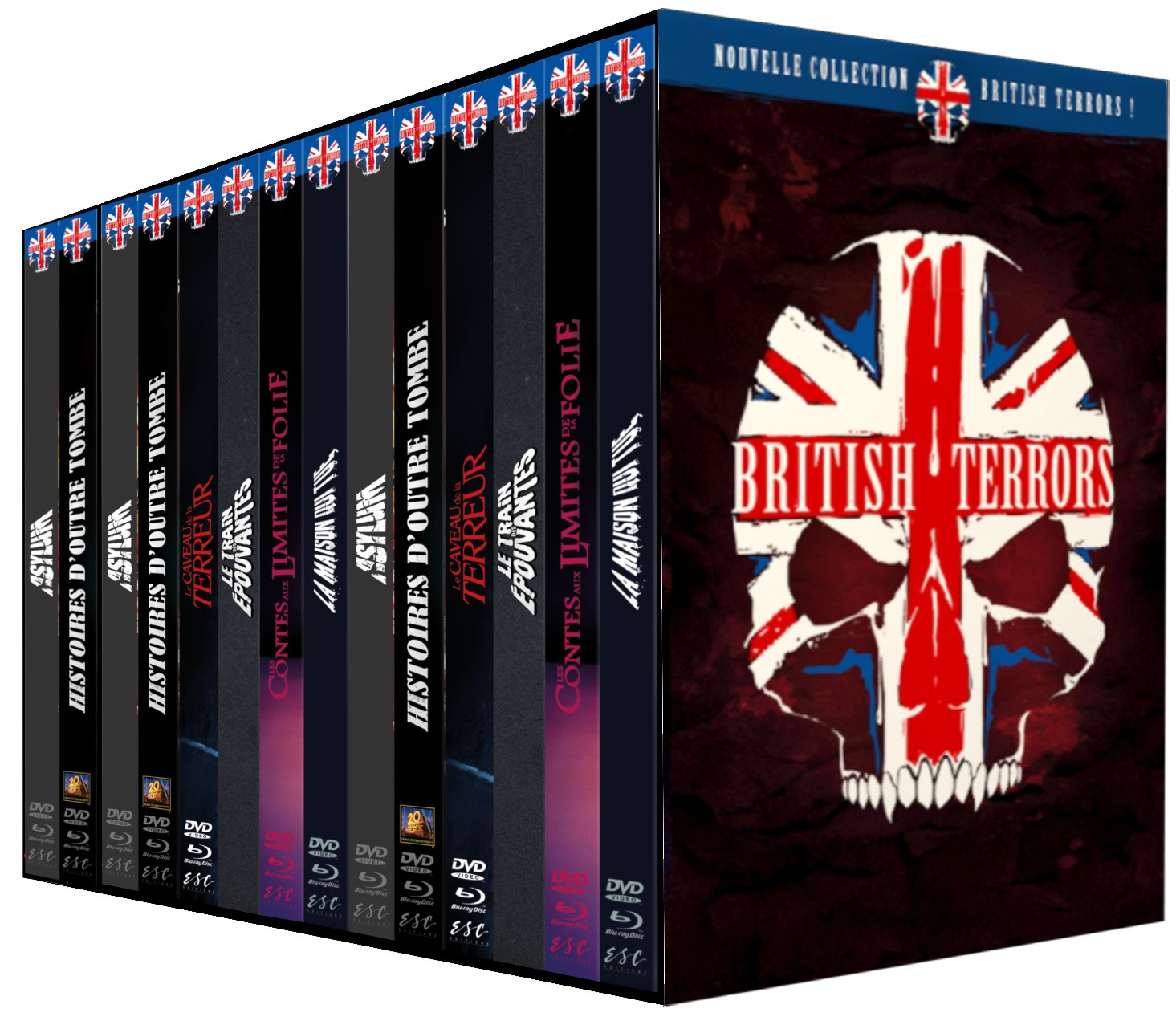 PACK ULTRA COLLECTOR BRITISH TERRORS - 8 MEDIABOOKS HAMMER