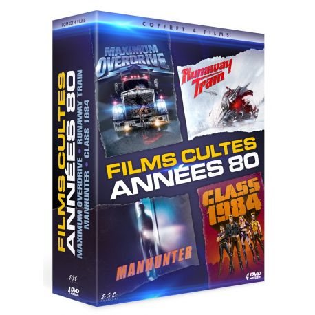 ACTION ANNEES 80  - COFFRET 4 DVD