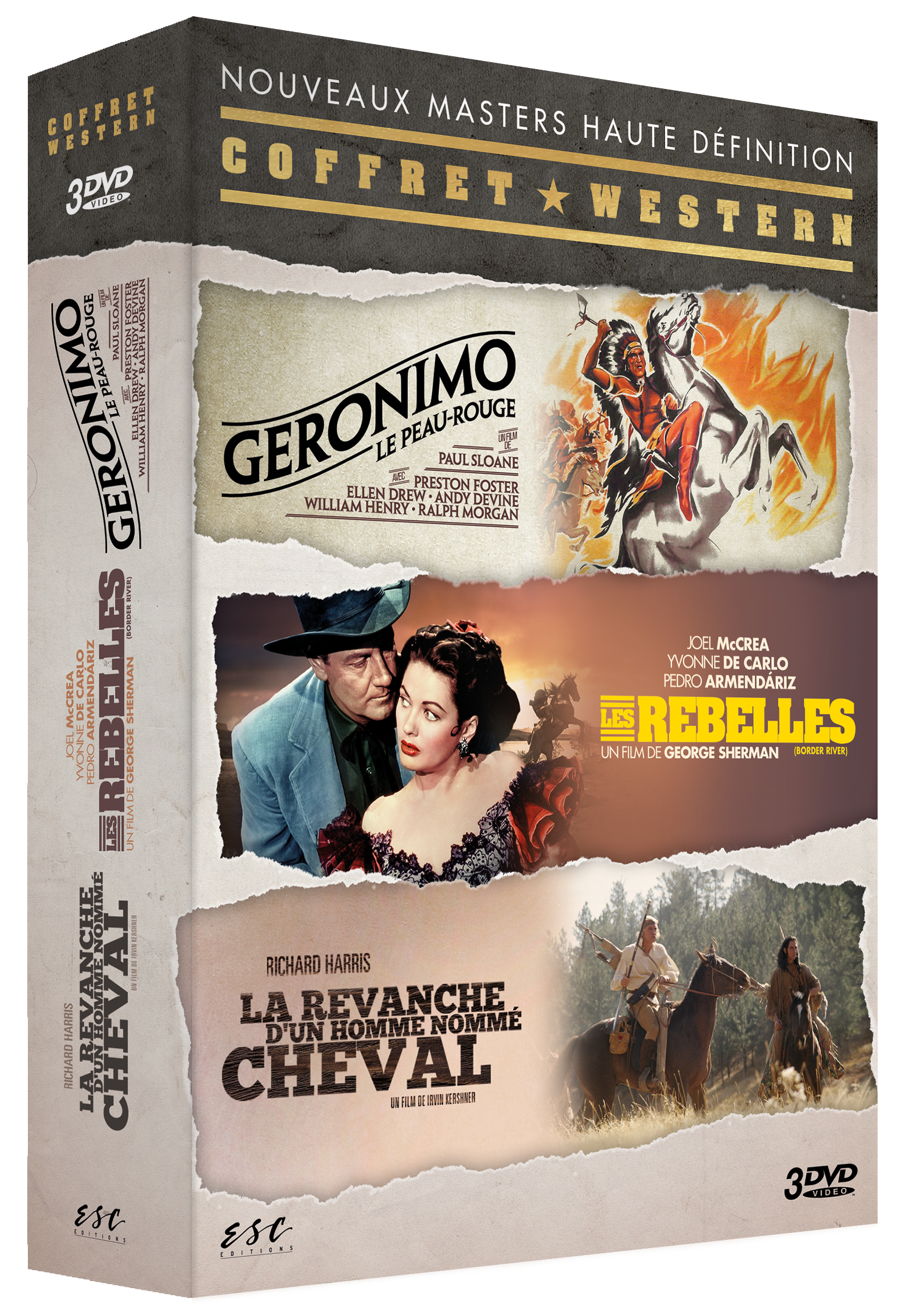 WESTERNS DE LEGENDE EN VF - COFFRET 3 DVD