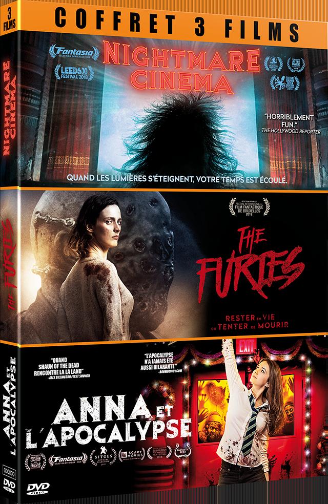 COFFRET FILMS D'HORREUR NIGHTMARE CINEMA - THE FURIES - ANNA ET L'APOCALYPSE