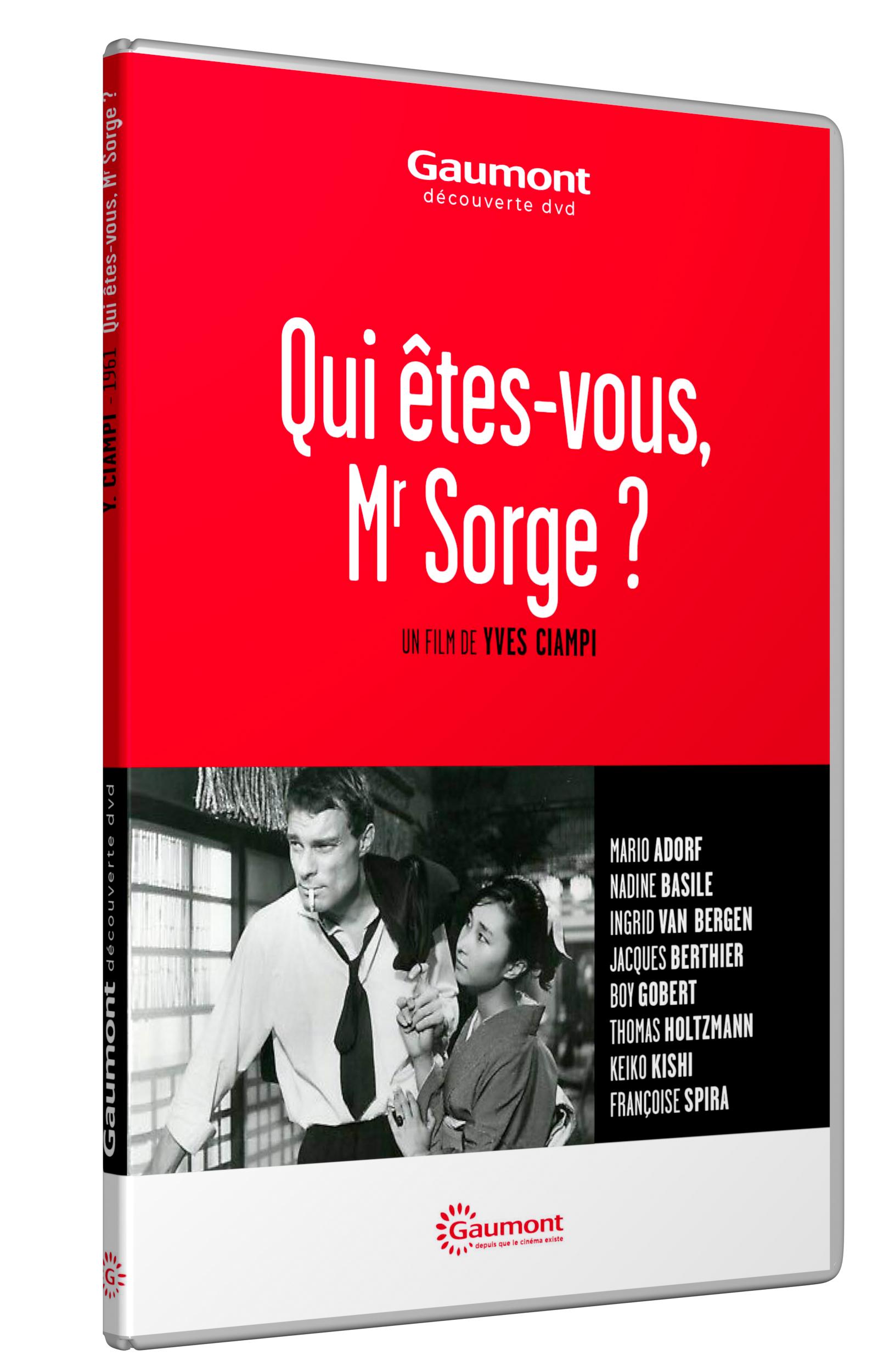 QUI ETES-VOUS, MR SORGE ?