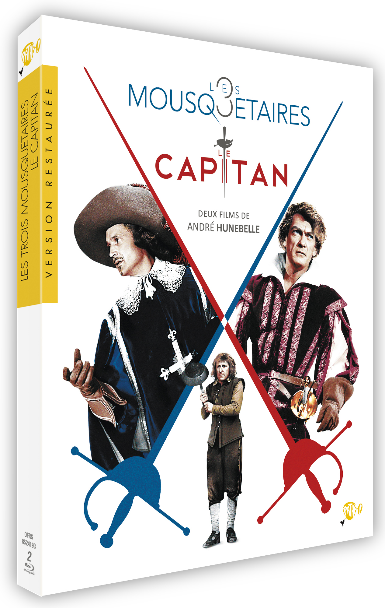COFFRET ANDRE HUNEBELLE - TROIS MOUSQUETAIRES (LES)/ CAPITAN (LE)