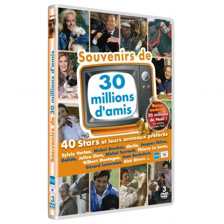 SOUVENIRS DE 30 MILLIONS D'AMIS - 3 DVD