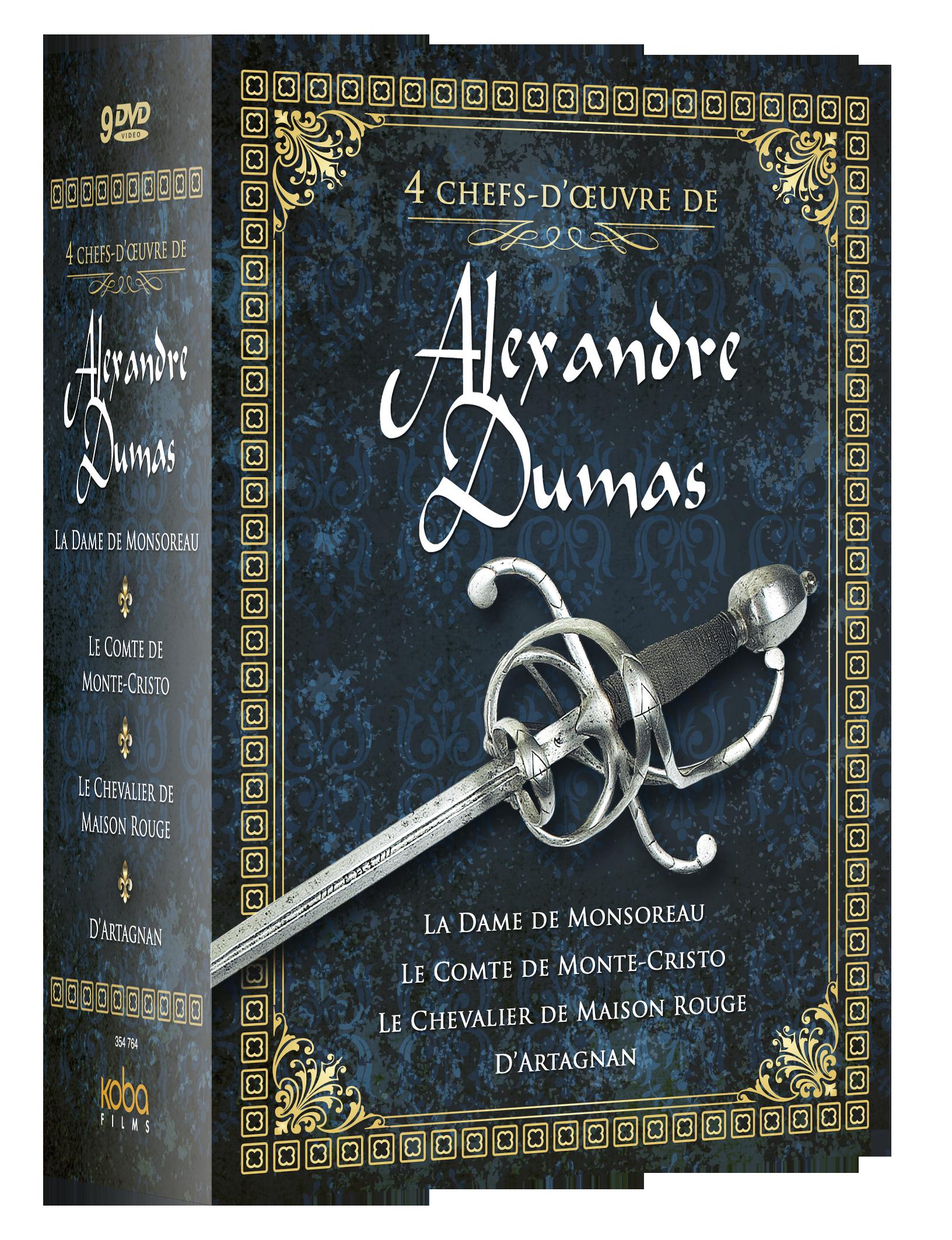 4 CHEFS-D'ŒUVRE D'ALEXANDRE DUMAS (9 DVD)