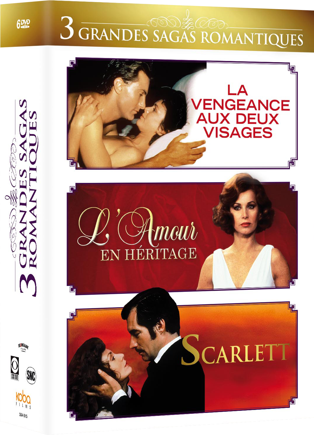 3 GRANDES SAGAS ROMANTIQUES (6 DVD)