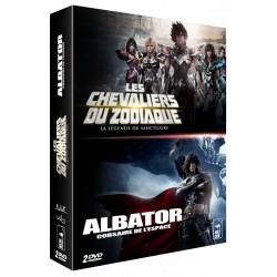 LES CHEVALIERS DU ZODIAQUE : LA LÉGENDE DU SANCTUAIRE + ALBATOR, CORSAIRE DE L'ESPACE (2013) - DVD