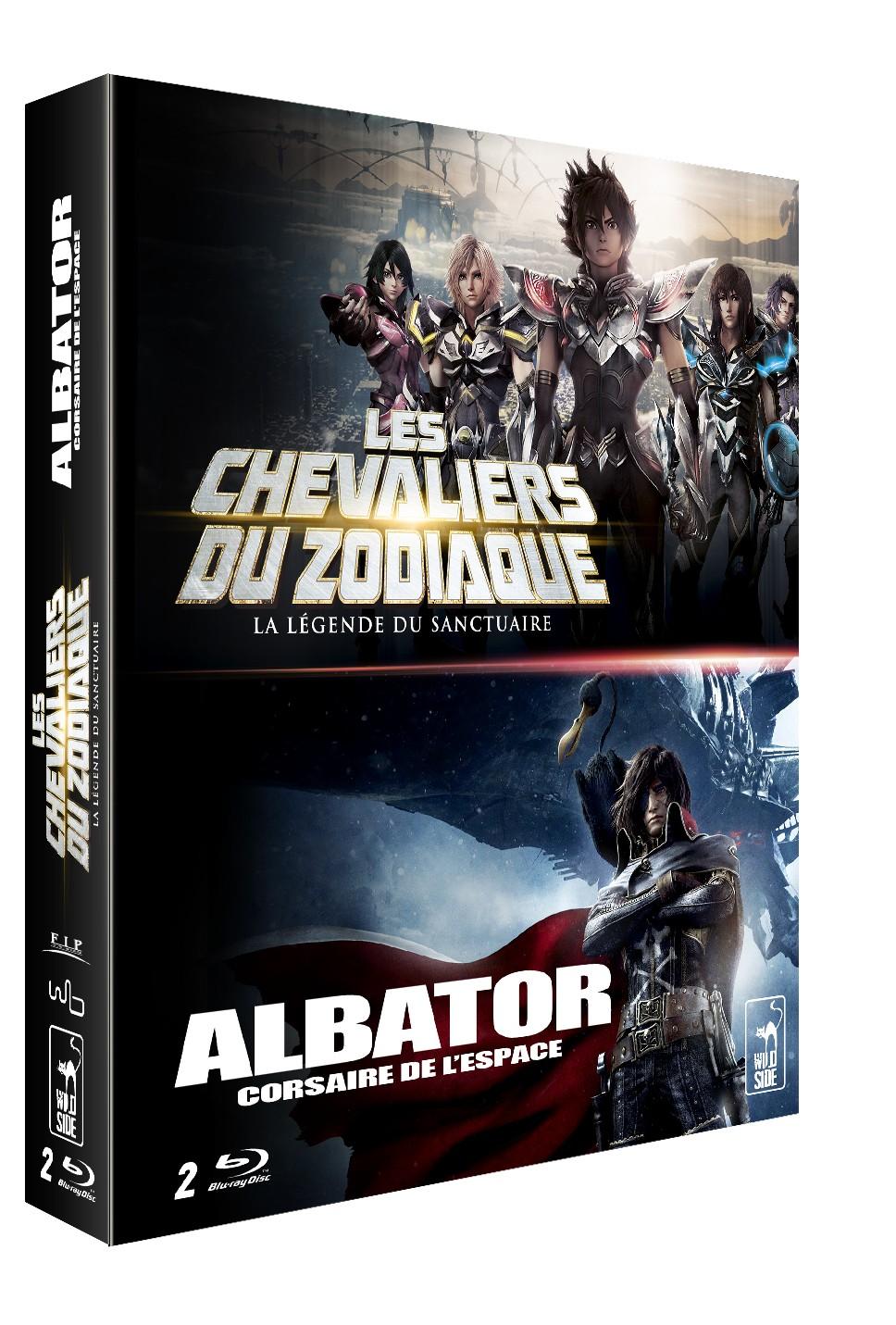 LES CHEVALIERS DU ZODIAQUE : LA LÉGENDE DU SANCTUAIRE + ALBATOR, CORSAIRE DE L'ESPACE (2013) - BLU-RAY