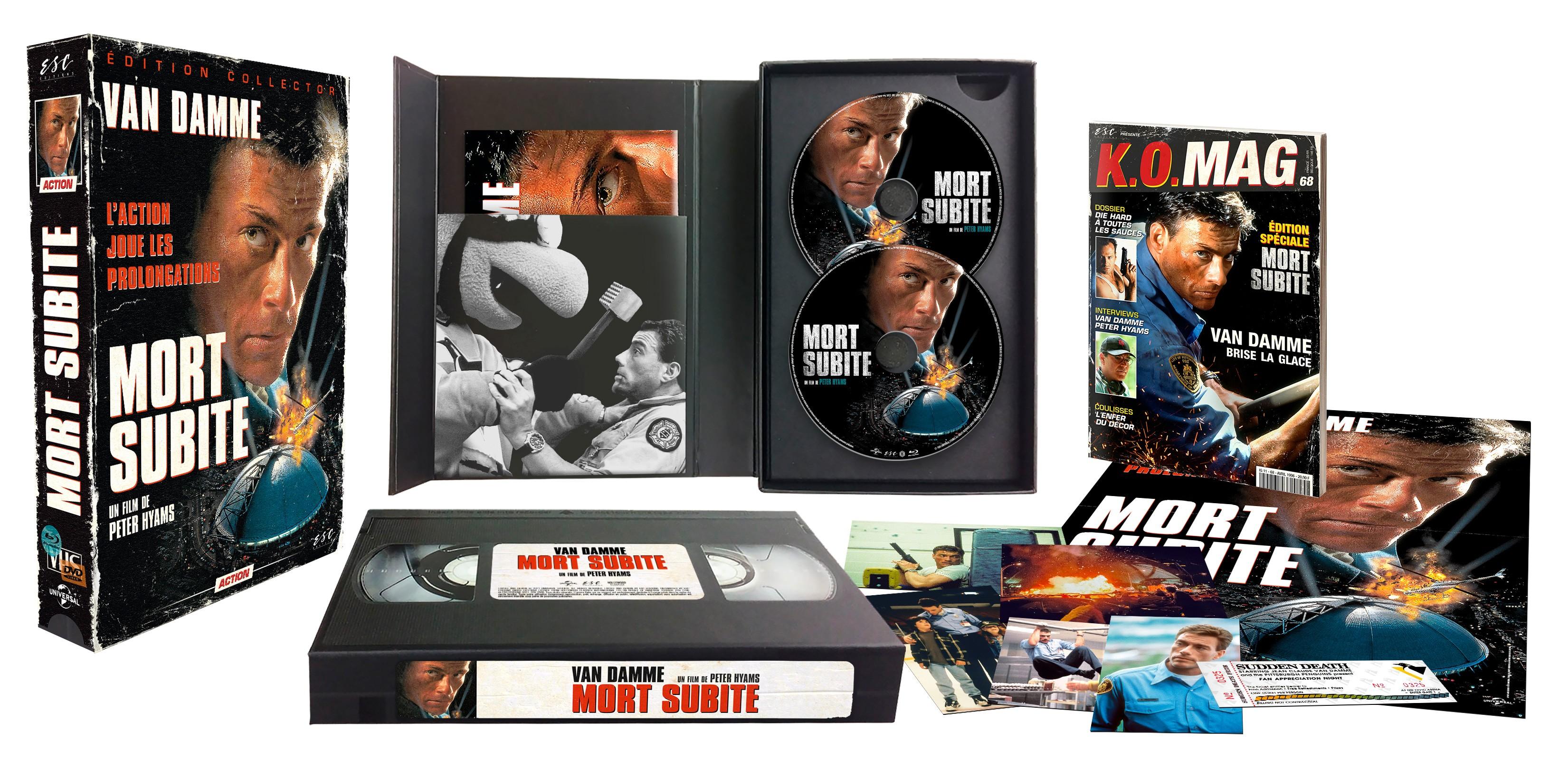MORT SUBITE - EDITION COLLECTOR  LIMITÉE BOITIER VHS