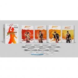 STEELBOOK - INDIANA JONES 4 FILMS 4K - COMBO 4 UHD 4K + 5 BLURAY